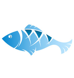 fish blue vector image