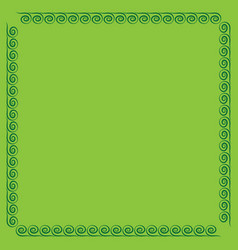 frame green 4 2011 vector image