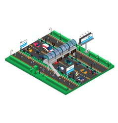 Futuristic Transport Isometric Template vector