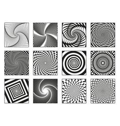 hypnotic spirals vortex motion hypnotise spirals vector image