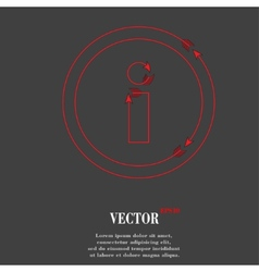 Info Flat modern web button and space for your vector