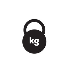 kettlebell icon graphic design template vector image