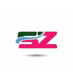 Letter s and z logo vector