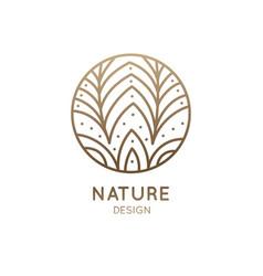 Logo flower in circle vector