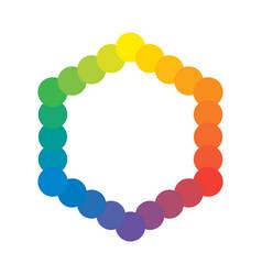 Multicolor polychrome spectral versicolor rainbow vector