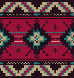 Native southwest american indian aztec navajo vector