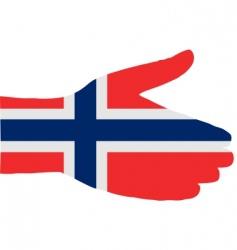Norwegian handshake vector image