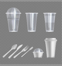 Plastic wear isolated set on transparent back vector