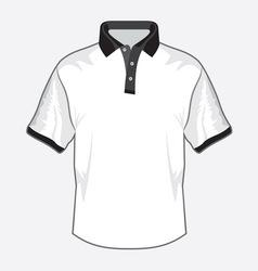 Polo majica crna kragna vector