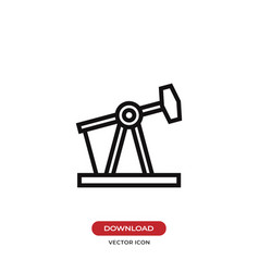 pump jack icon vector image