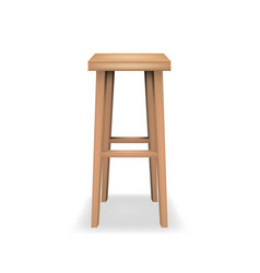 Realistic detailed 3d wooden bar stool vector