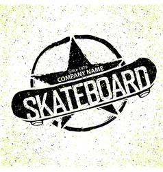 skateboard logotype grunge with star vector image