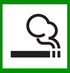 smoking area icon cigarette smokers zone smoking vector image