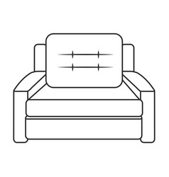 Sofa armchair furniture image outline vector