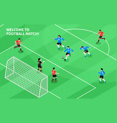 sport football soccer isometric vector image
