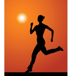 sports woman vector image