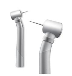 Stainless dental drill vector