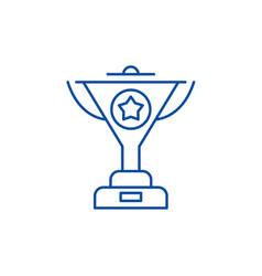 successful achievement line icon concept vector image