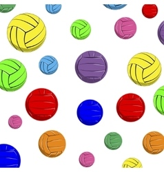The pattern of color volleyball balls vector