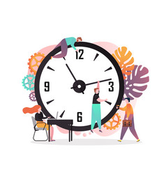 time management concept for web banner vector image