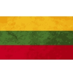 True proportions Lithuania flag with texture vector image
