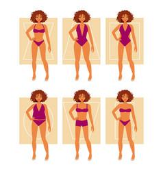Types female figures vector
