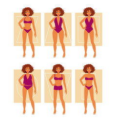 types of female figures vector image
