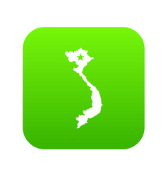 Vietnam map icon digital green vector