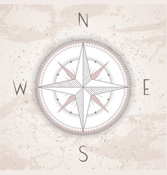 Vintage compass or wind rose vector