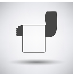 Waiter hand with towel icon vector image