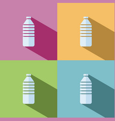 water bottle icon on colored background vector image