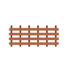 wooden fence farmyard protection gates wood vector image