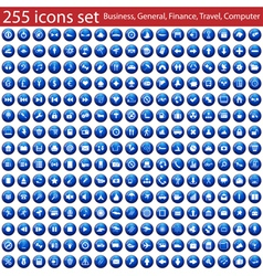 255 icons vector image vector image