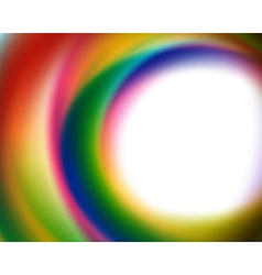 Abstract smooth colorful lines background vector image vector image