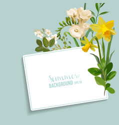 vintage spring floral card with a tag vector image vector image