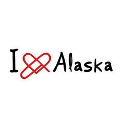 alaska love message vector image vector image