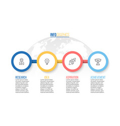 business infographics presentation with 4 steps vector image
