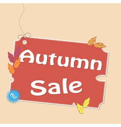 Discount autumn labels vector image