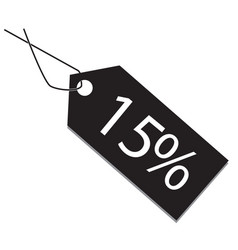 15 percent tag on white background 15 percent tag vector