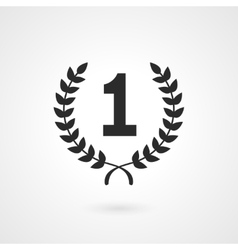Black winner icon or number 1 sign vector image vector image