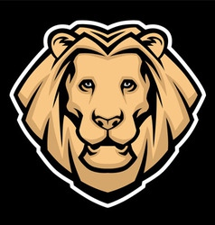 lion head mascot vector image