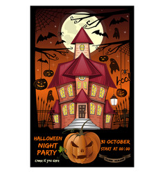 poster for halloween night party vector image
