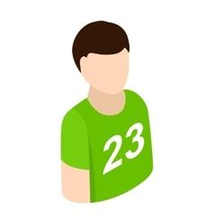Sportsmen isometric 3d icon vector image