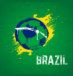 brazil football background vector image