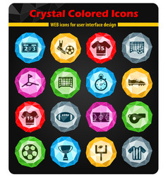 Football simply icons vector
