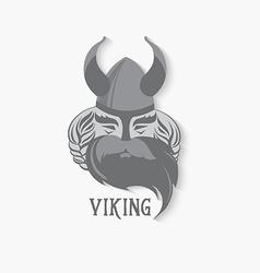 Viking logo vintage design vector image vector image