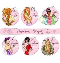 Zodiac signs Hand drawn icons - part 2 vector image