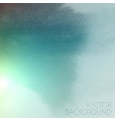 Abstract blue azure watercolor background with vector
