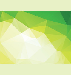 abstract green low poly geometric background vector image