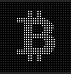 abstract sign bitcoin from pixels cryptocurrency vector image